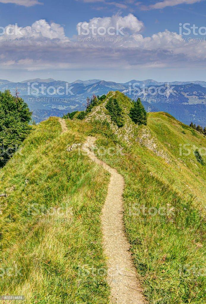 Gipfelpfad stock photo