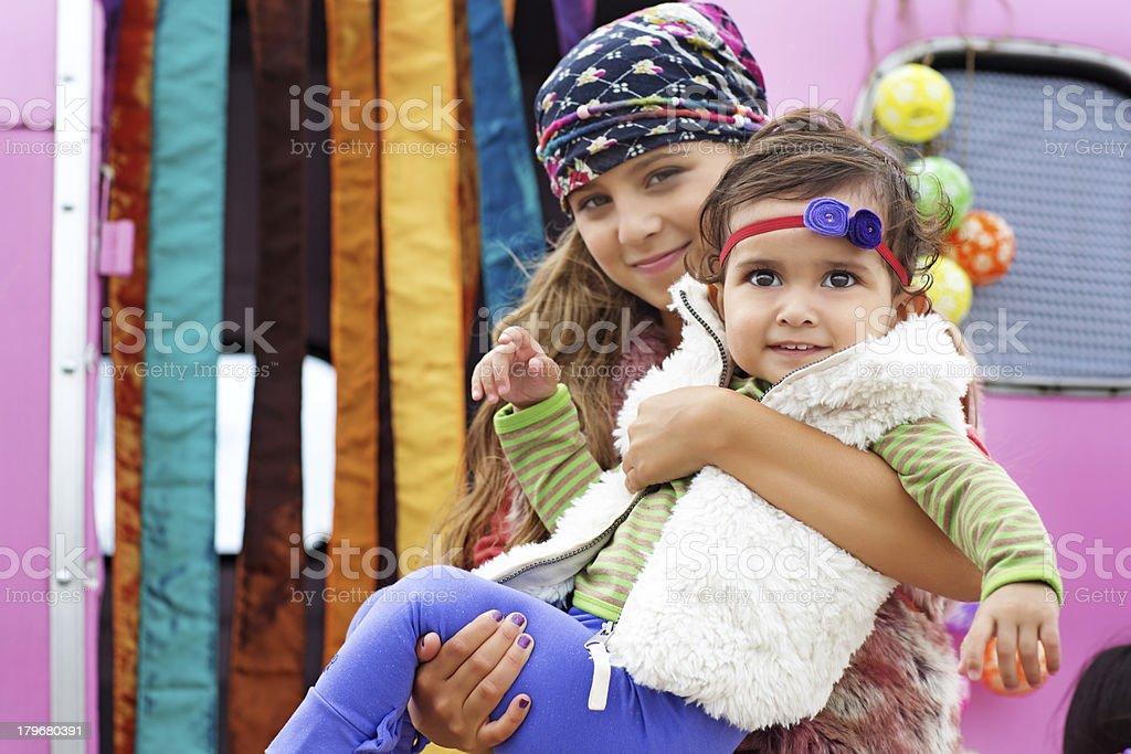 gipsy children royalty-free stock photo