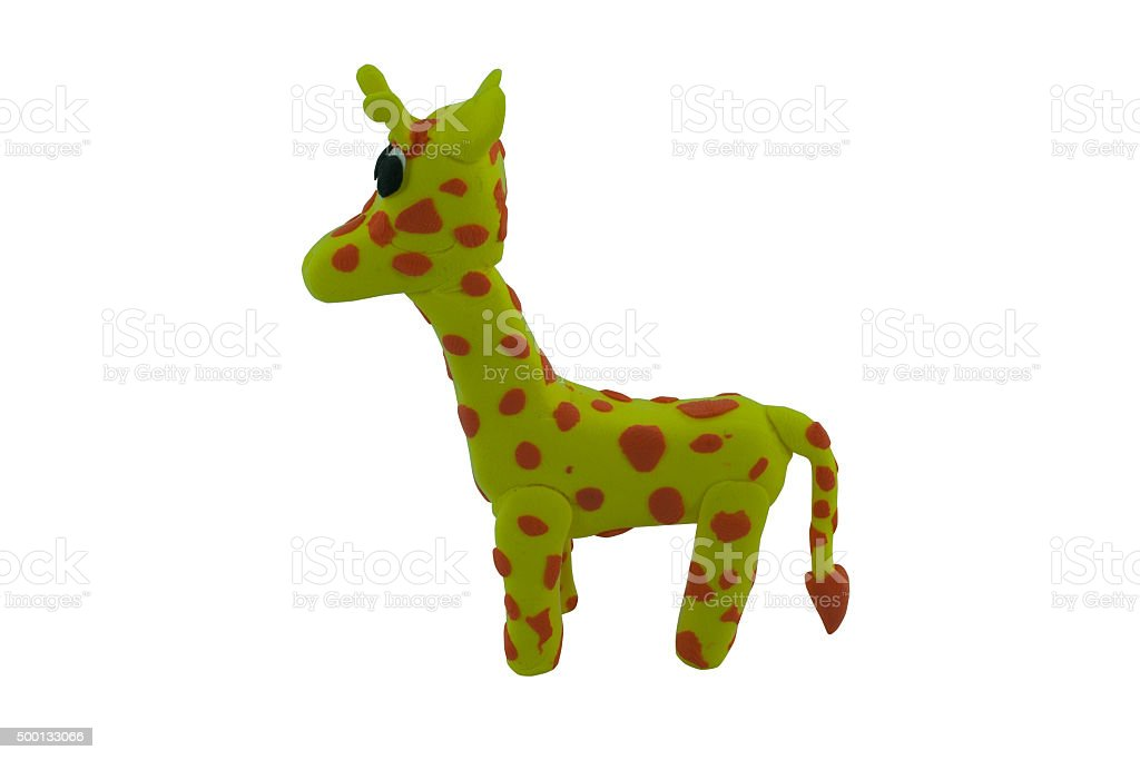 giraffe made from plasticine stock photo