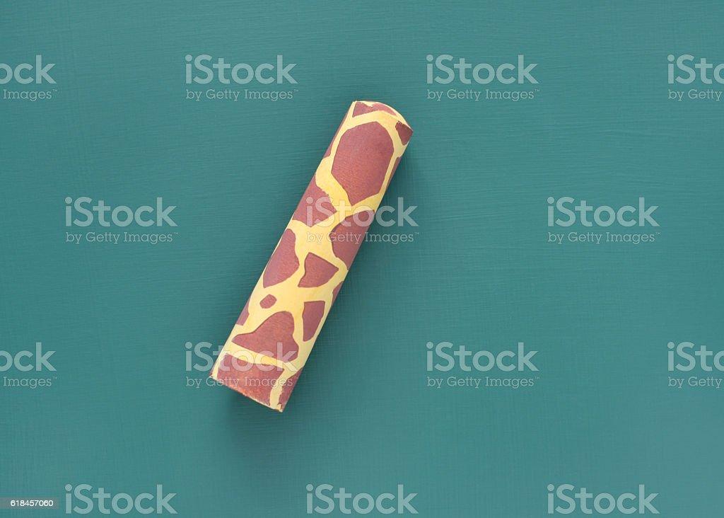 Giraffe Print Chalk stock photo