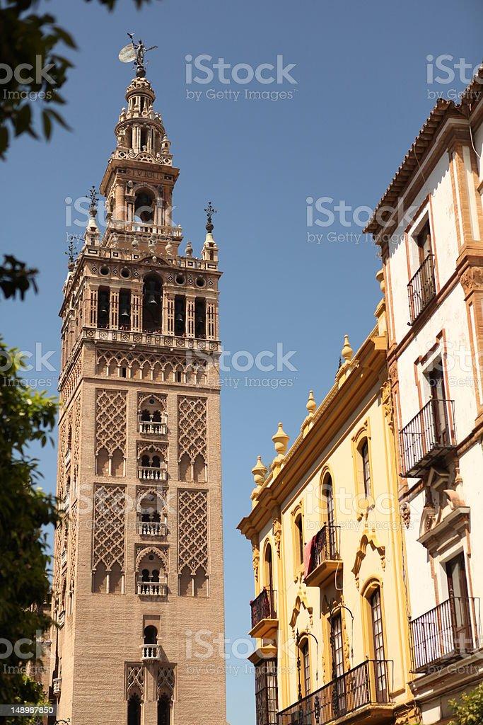 Giralda Tower in Sevilla royalty-free stock photo