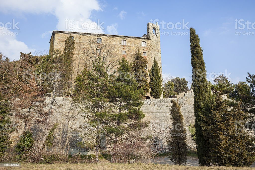 Fortezza del Girifalco in Cortona, Tuscany Italy royalty-free stock photo