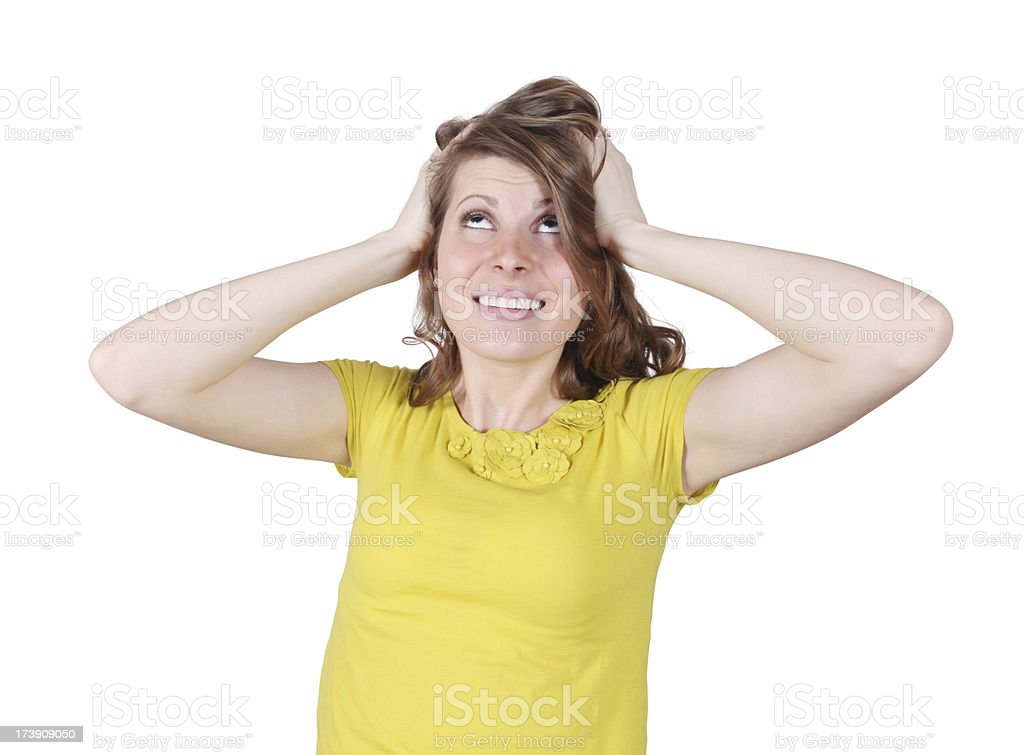Girl About to Faint stock photo