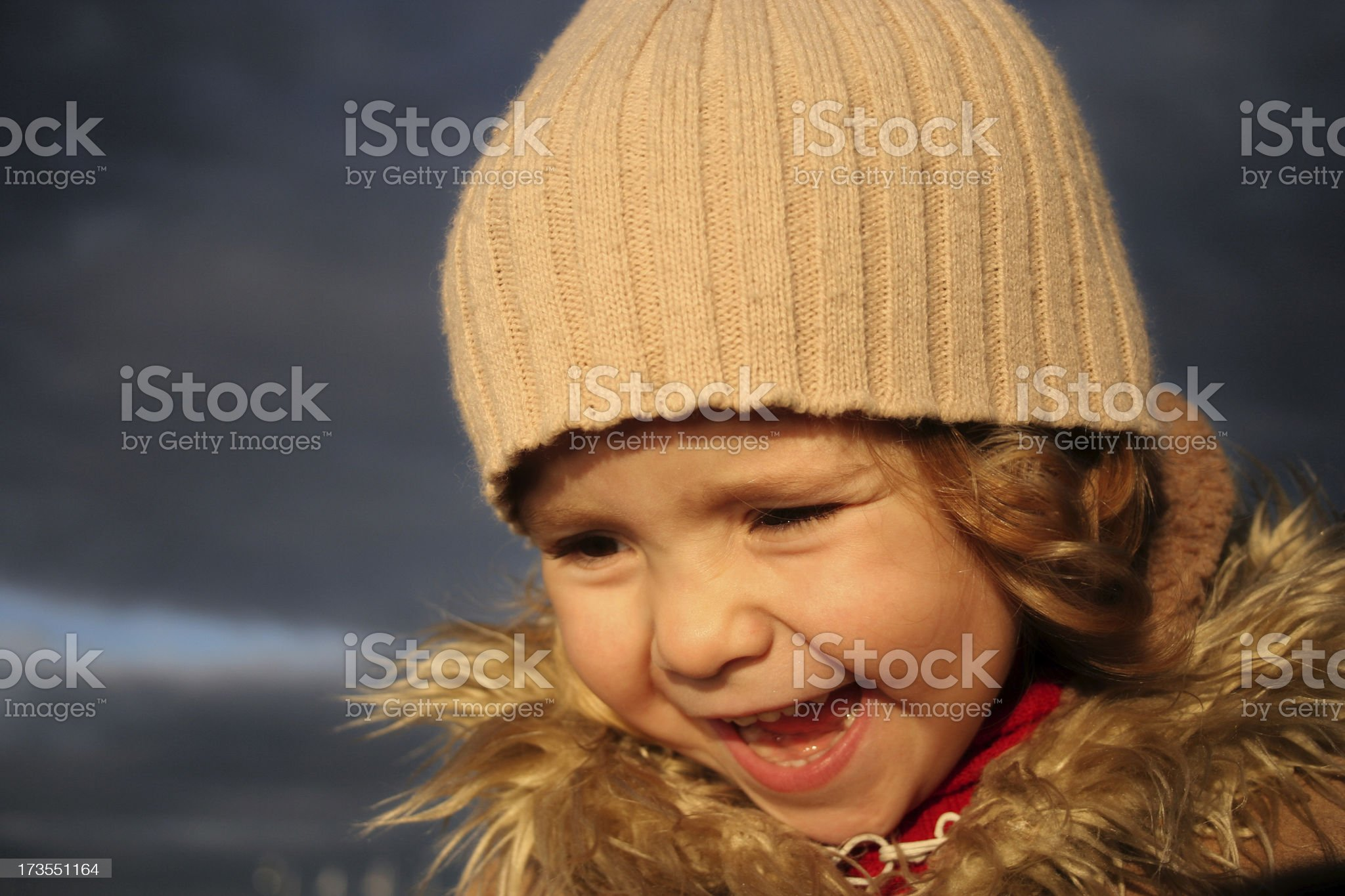 girl against dark sky 2 royalty-free stock photo