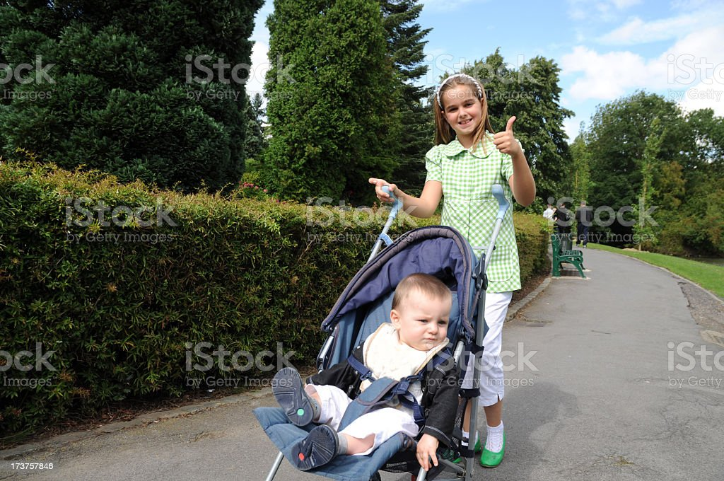 girl and baby royalty-free stock photo