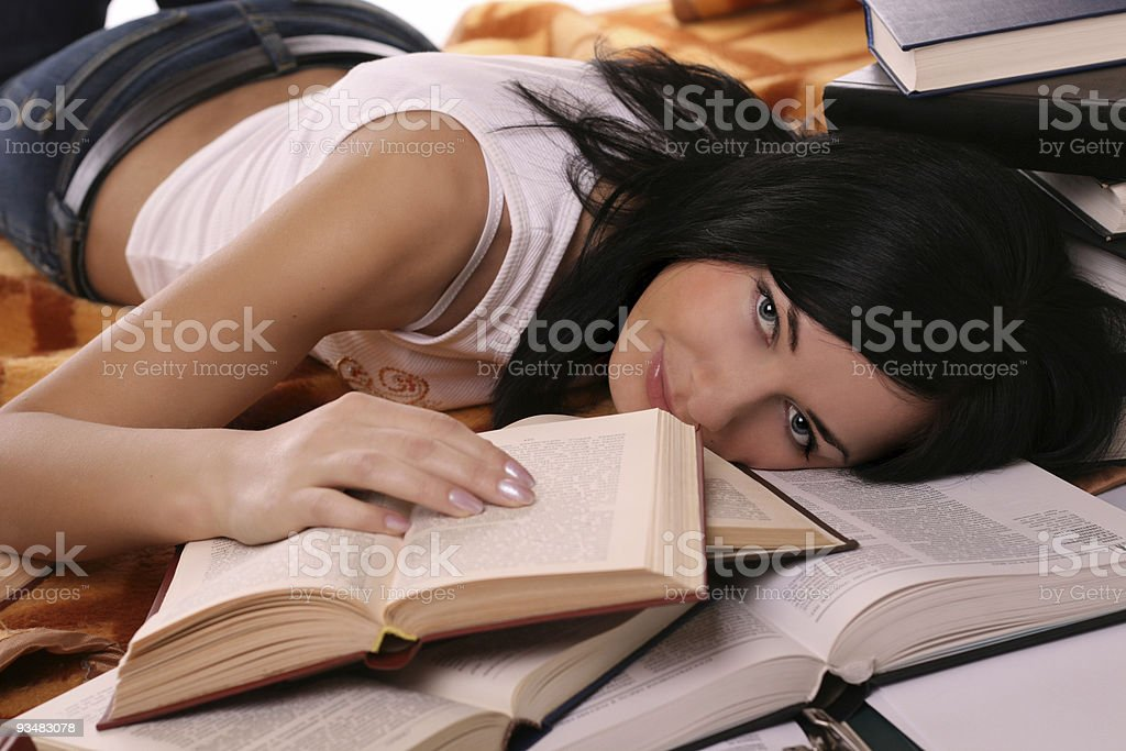 girl and book royalty-free stock photo