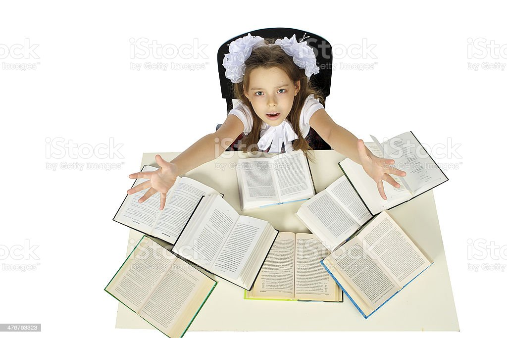 girl and books royalty-free stock photo