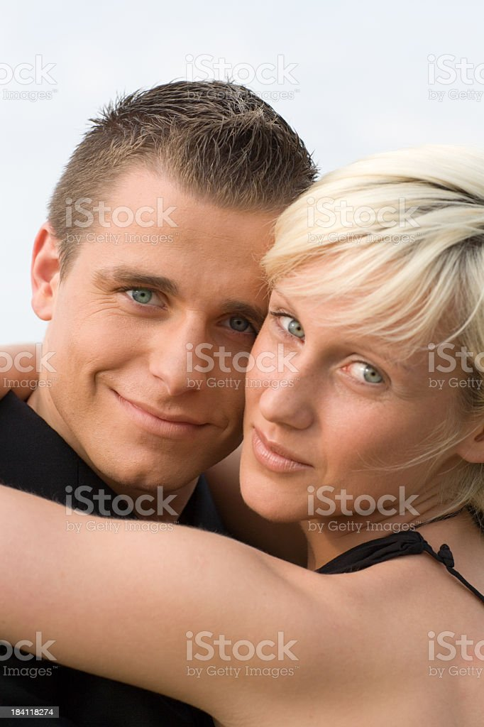 Girl and Boy embracing couple portrait royalty-free stock photo