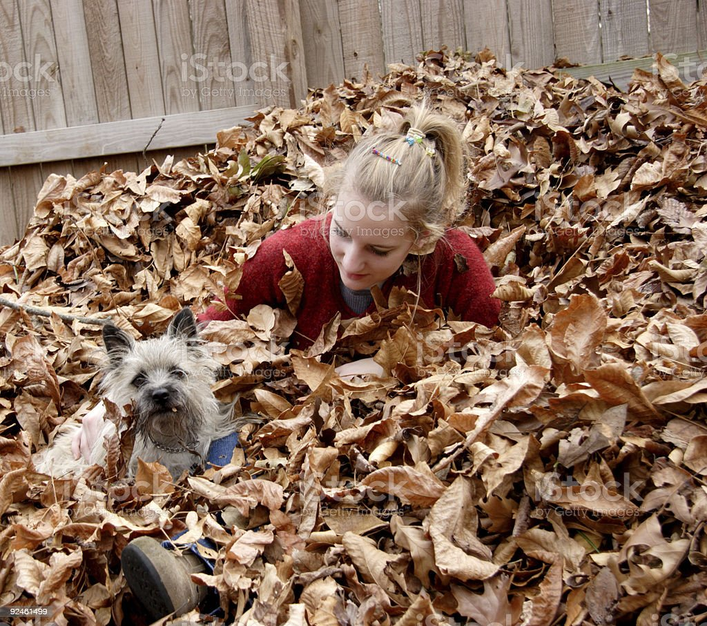 girl and dog friends royalty-free stock photo