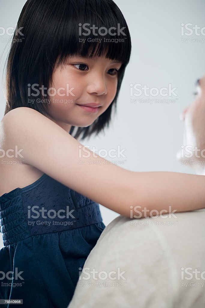 Girl and father royalty-free stock photo