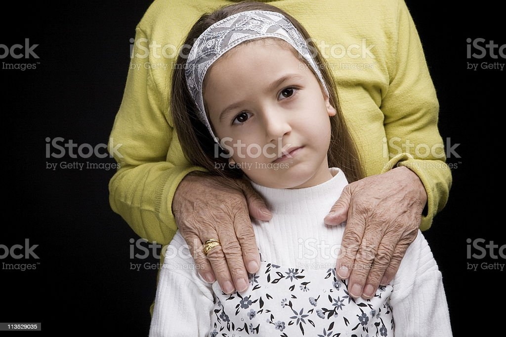 Girl and Grandmother royalty-free stock photo