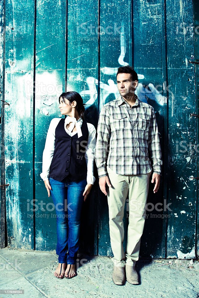Girl and Guy - Fashion Shot royalty-free stock photo