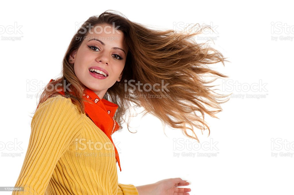 Girl and hair royalty-free stock photo