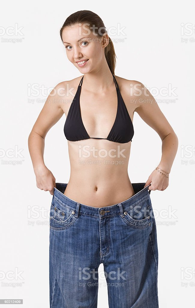 girl and jeans royalty-free stock photo