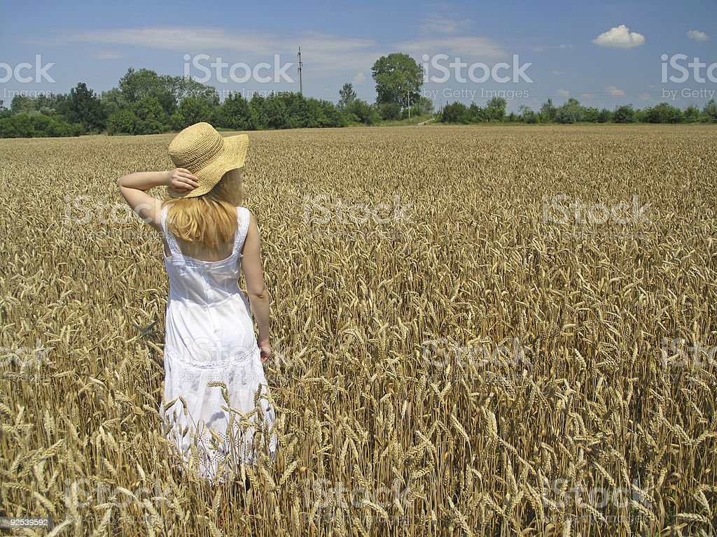 Girl and light royalty-free stock photo
