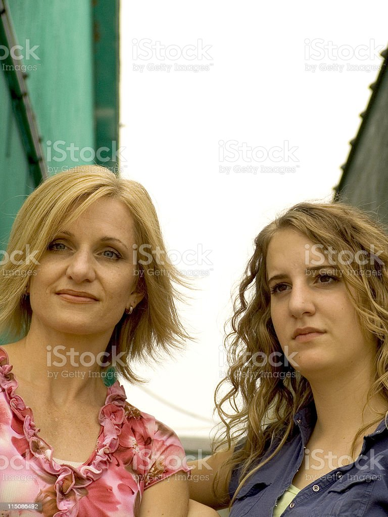 girl and middle aged woman portrait royalty-free stock photo