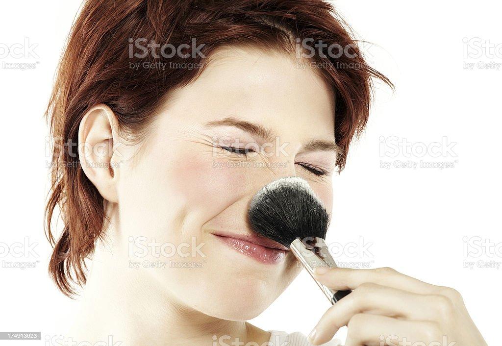 Girl And Powder stock photo