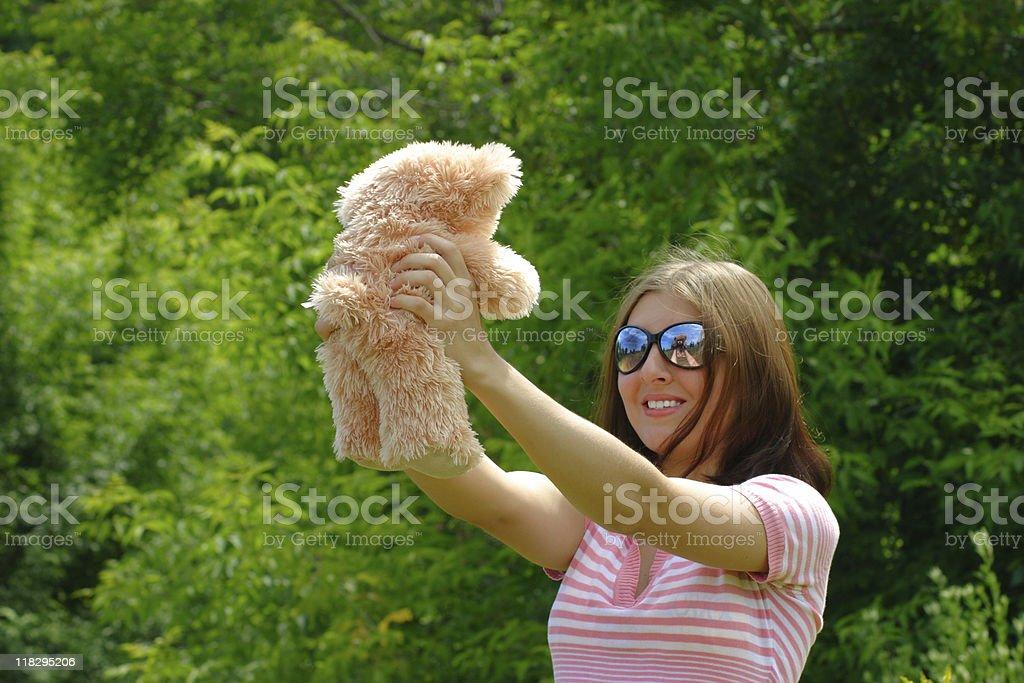 Dziewczyna i teddy zbiór zdjęć royalty-free