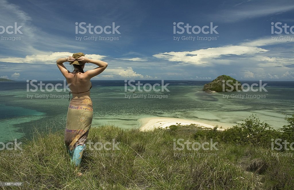 girl and the sea royalty-free stock photo
