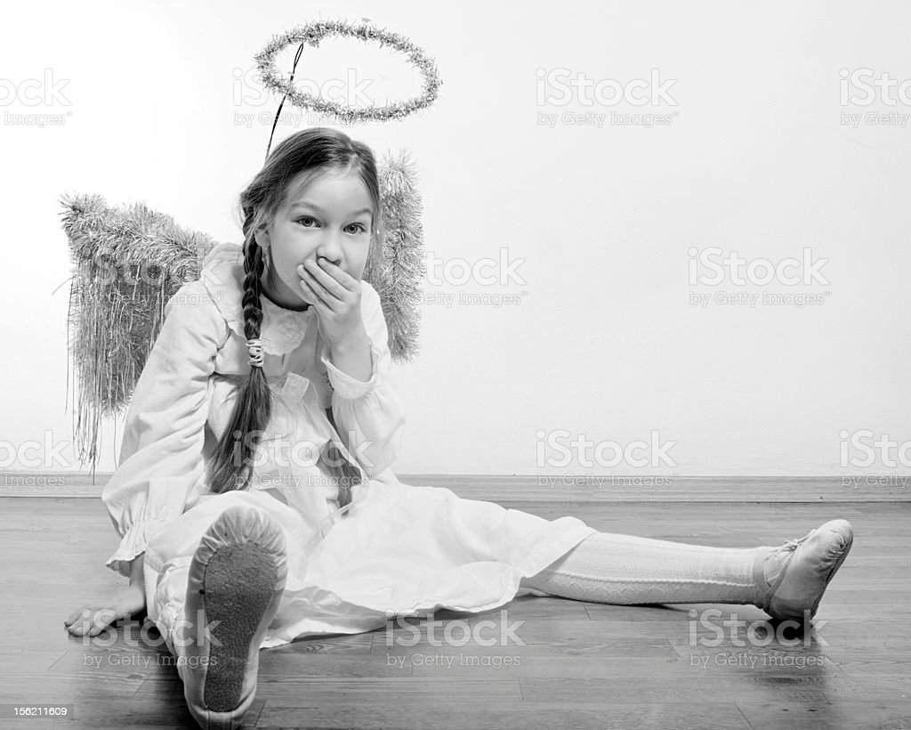Girl as Angel stock photo