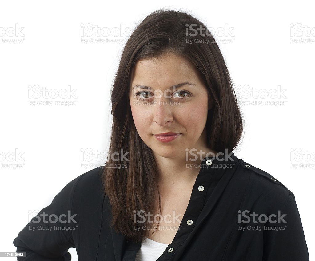 girl as victim looking exploited stock photo
