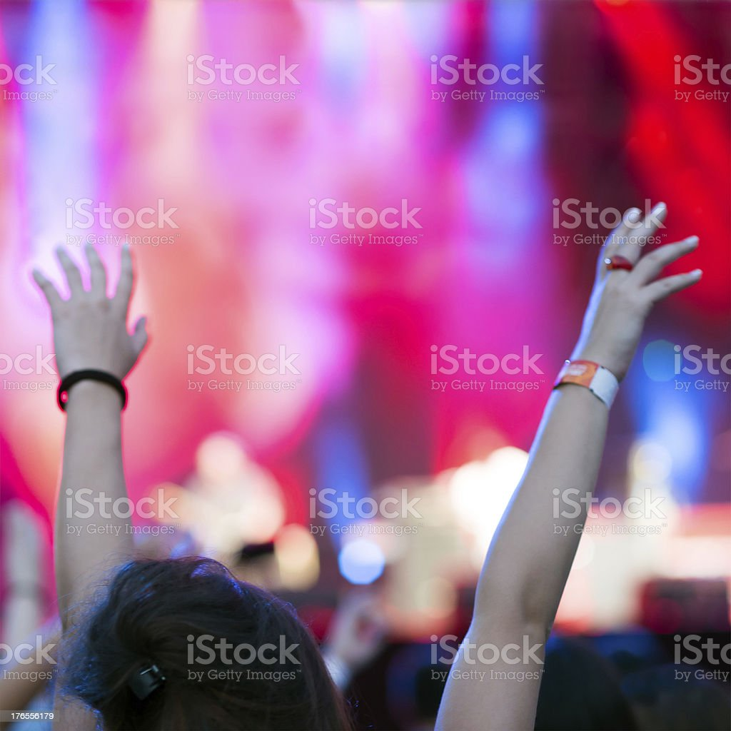 Girl at a concert royalty-free stock photo