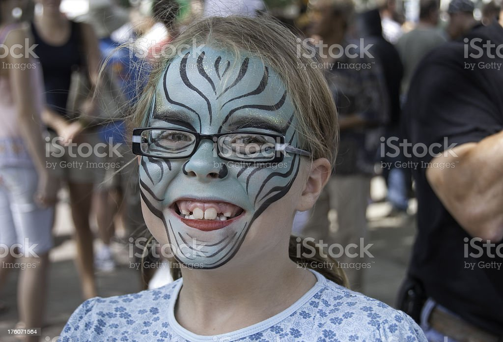 Girl at a Street Festival royalty-free stock photo