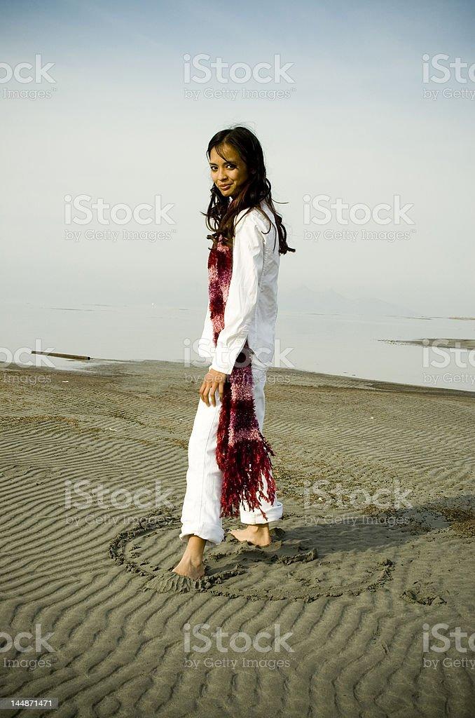 girl at beach royalty-free stock photo