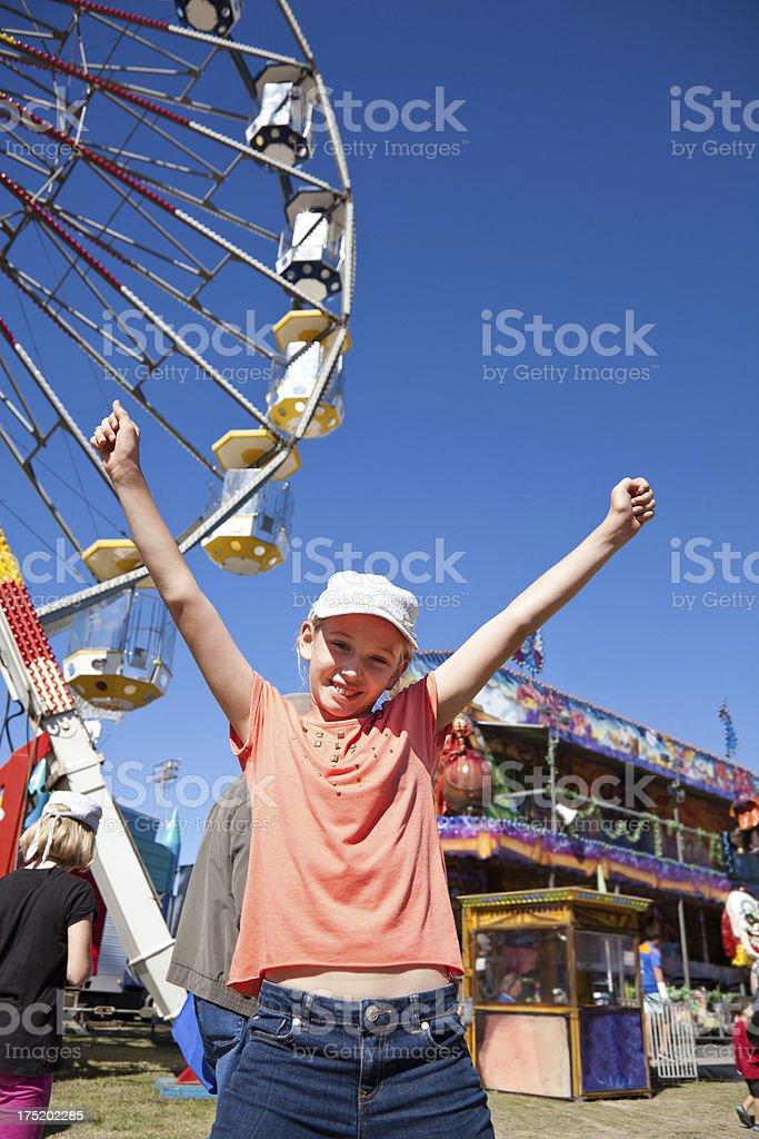 Girl at Carnival stock photo