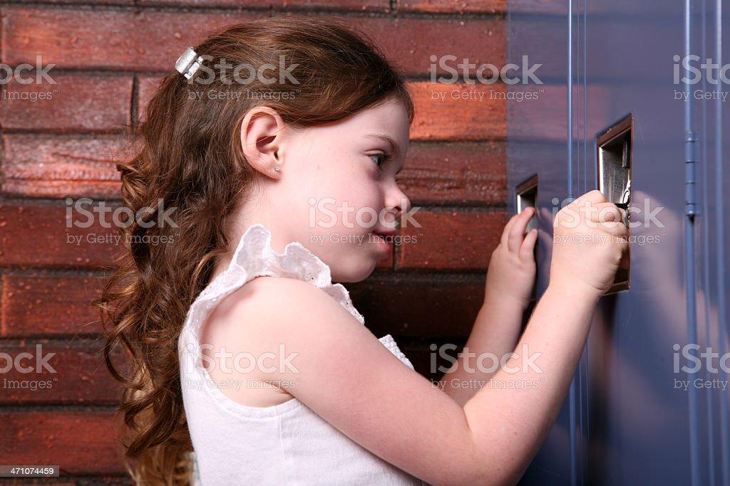 Girl at Locker royalty-free stock photo