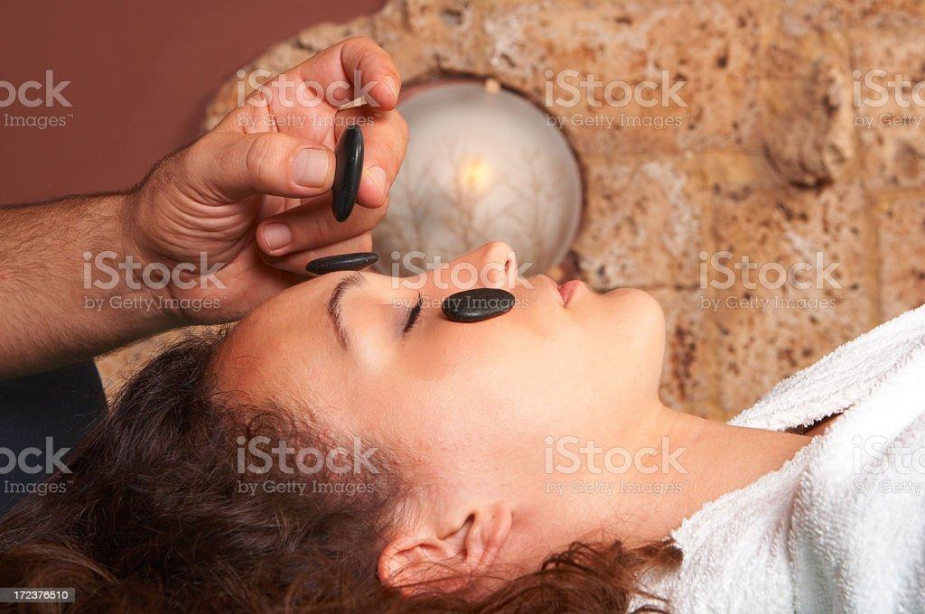 Girl at Massage resort royalty-free stock photo