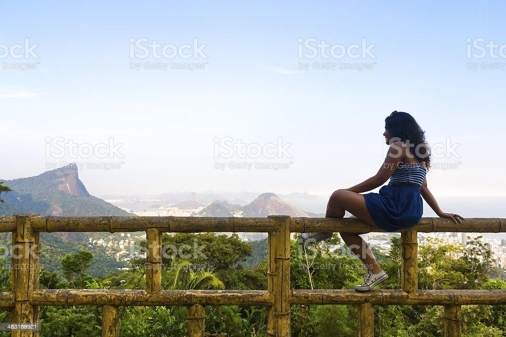 Girl at Rio de Janeiro royalty-free stock photo