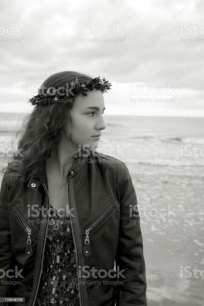 Girl at Sea royalty-free stock photo