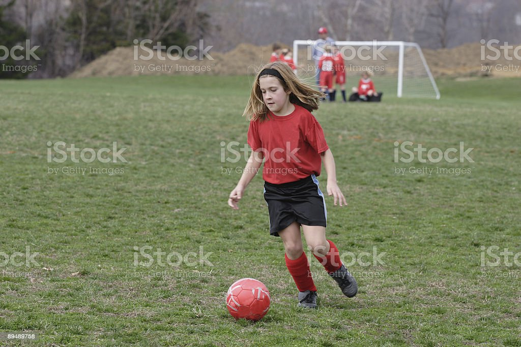 Girl at Soccer Field 2 royalty-free stock photo