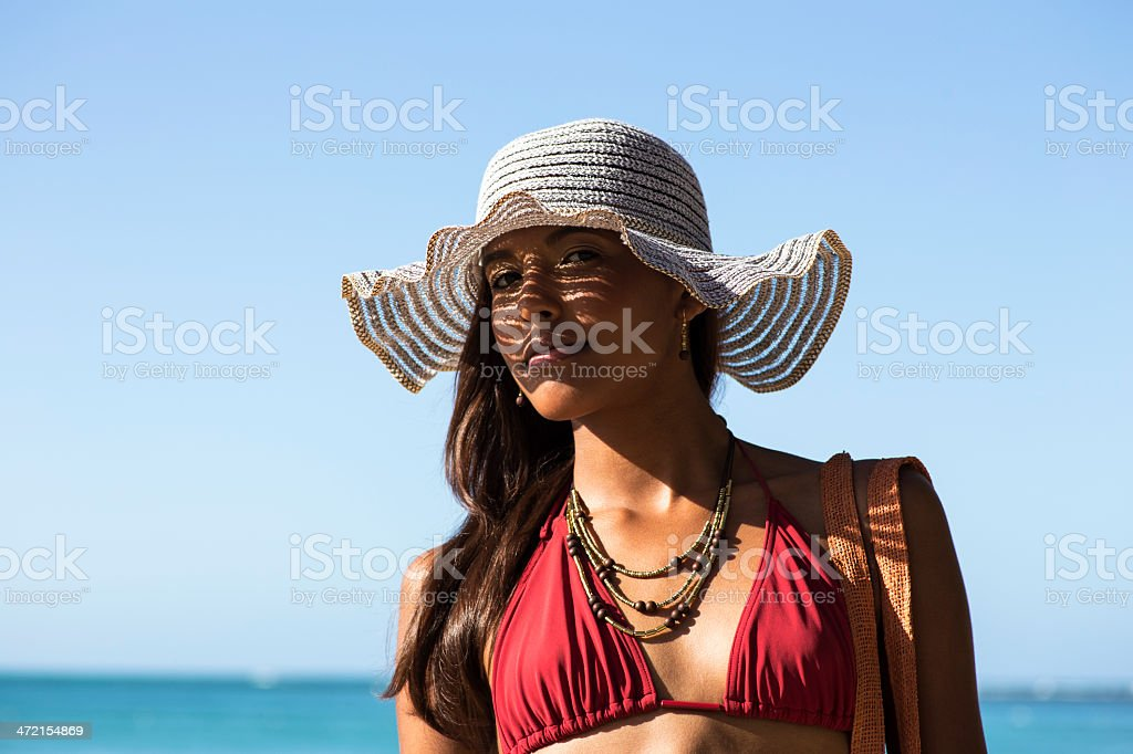 Girl at the beach royalty-free stock photo