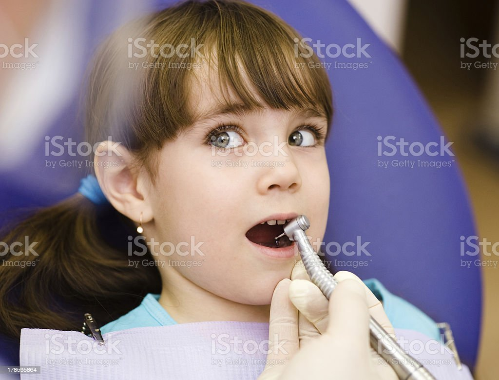 girl  at the dentist royalty-free stock photo