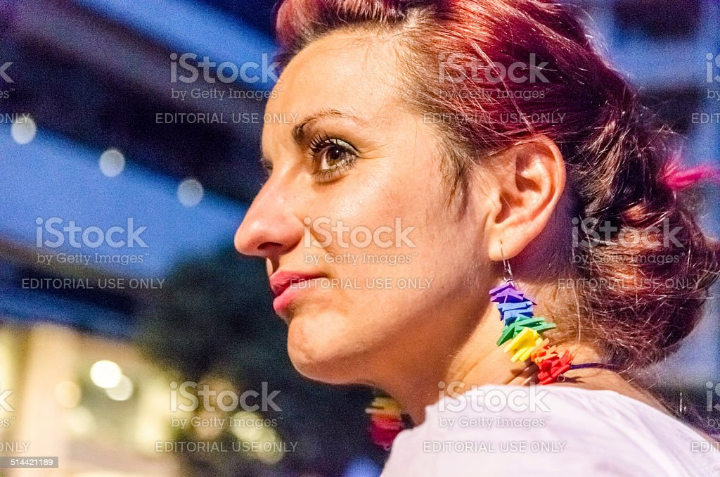 Girl at the Gay Parade. stock photo