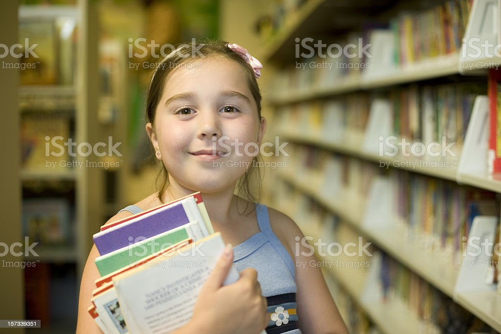 Girl at the library royalty-free stock photo