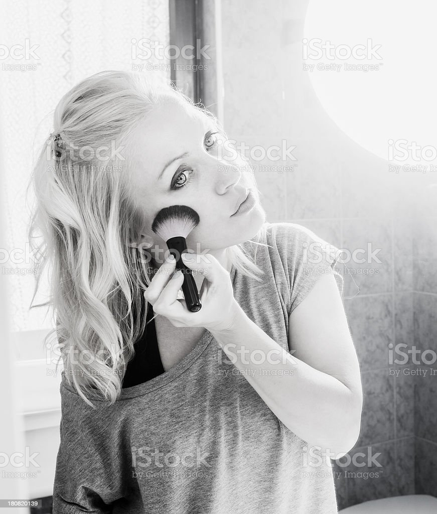 Girl at the mirror royalty-free stock photo