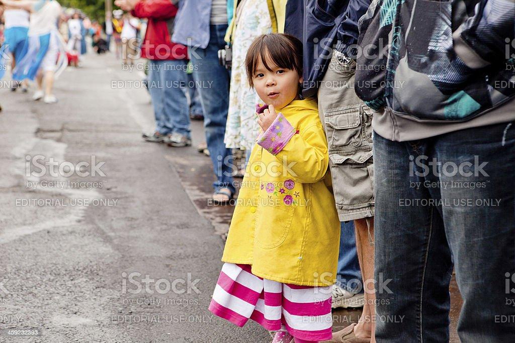 Girl at the parade royalty-free stock photo