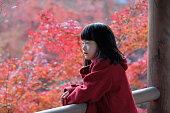 Girl at Tofuku-ji Temple