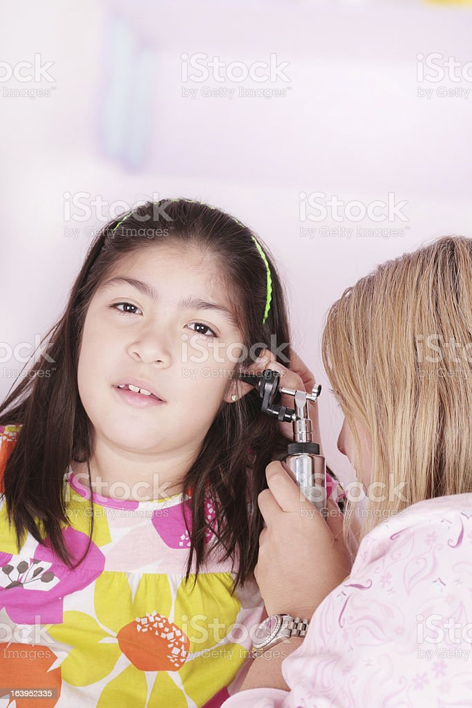 girl attending medical check-up royalty-free stock photo
