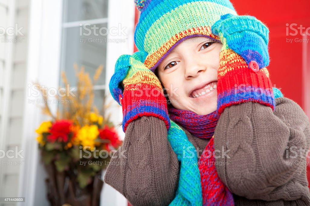 Girl autumn portrait royalty-free stock photo