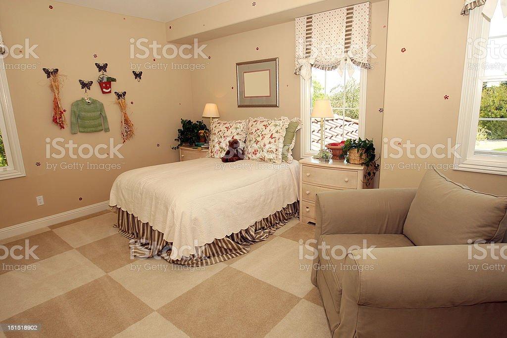 Girl dormitorio foto de stock libre de derechos