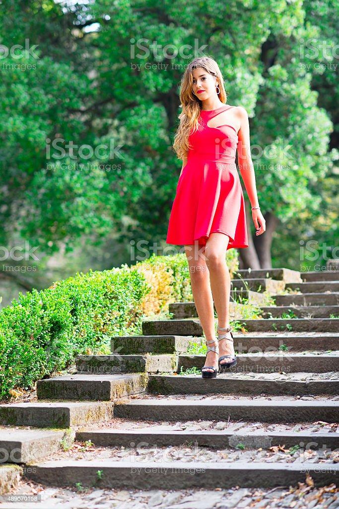 Girl before the Debutante Ball stock photo