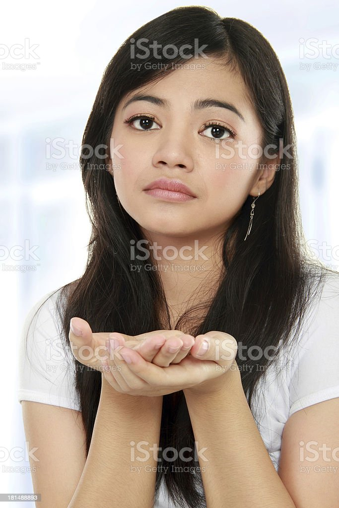 girl begging something royalty-free stock photo