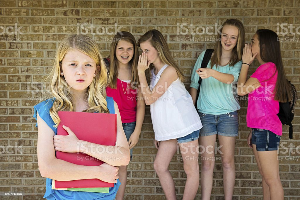 Girl being bullied royalty-free stock photo