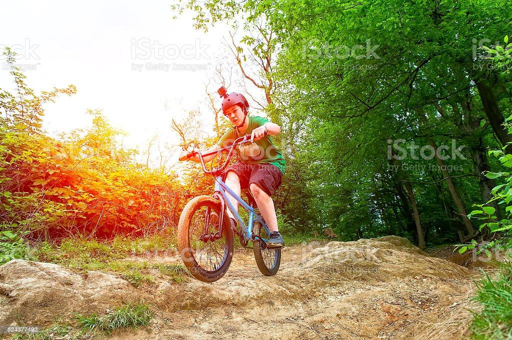 Girl BMX bike stock photo