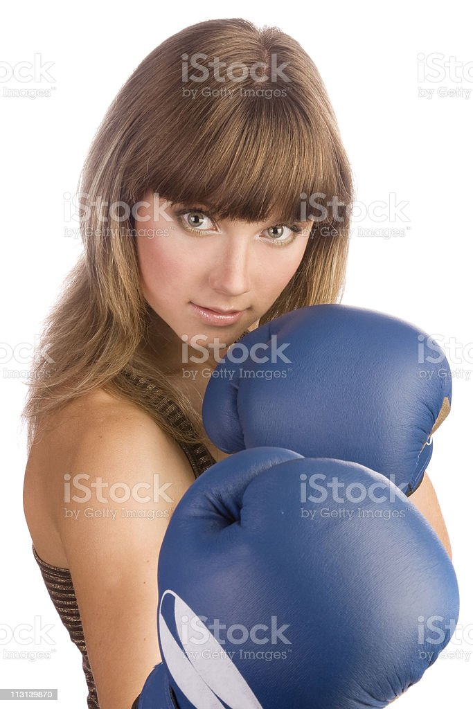 Girl boxer. royalty-free stock photo