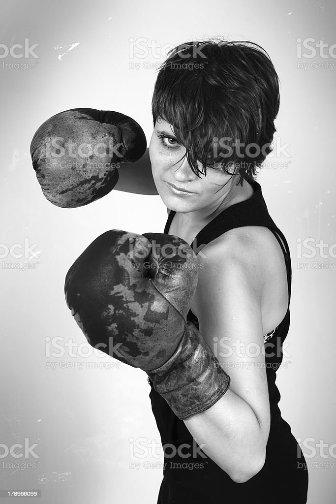 Girl Boxer royalty-free stock photo